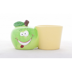 Pomme Verte - Cache-pot Jaune D7,5 x H6 cm
