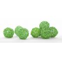 Boule de Rotin d6 cm Vert par 12