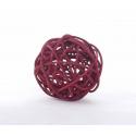 BOULE ROTIN - Sphère Rotin D6 cm Rouge par 12