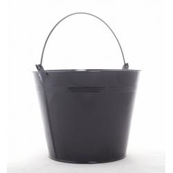 Seau Zinc d20 h16 cm Noir