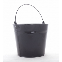 ELIAS - Seau Zinc Noir D17 x H14,5 cm