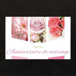 HEUREUX ANNIVERSAIRE DE MARIAGE - Carte Jeso Triple