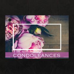 SINCERES CONDOLEANCES - Carte Jeso Brillant Gold par 10