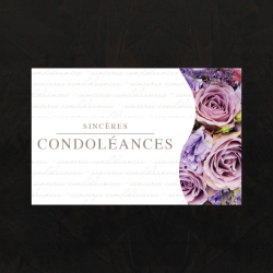 SINCERES CONDOLEANCES - Carte Jeso Twist