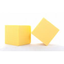Cube Mousse 10cm jaune...