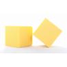 Cube Mousse 10cm jaune Soleil x3