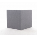 Cube Mousse 10cm Anthracite x3