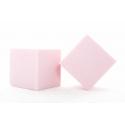 Cube Mousse 10cm Rose Pale x3
