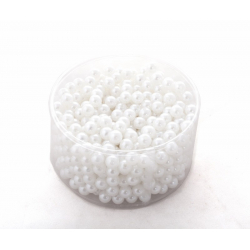Blanc - D10 mm Perles Par 300g