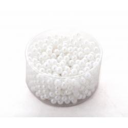 Perles 10mm Blanc par 600