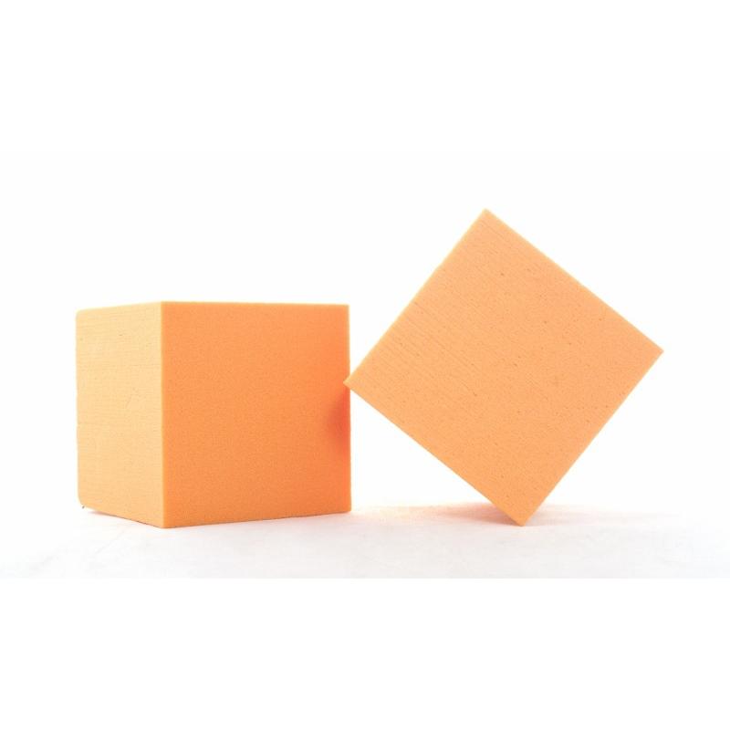 Cube Mousse 10cm Mandarine x3