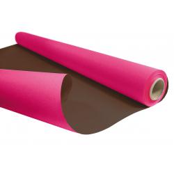 DUO - Rouleau Kraft Chocolat / Fuchsia 0.80 x 40 m - 60gr / m²