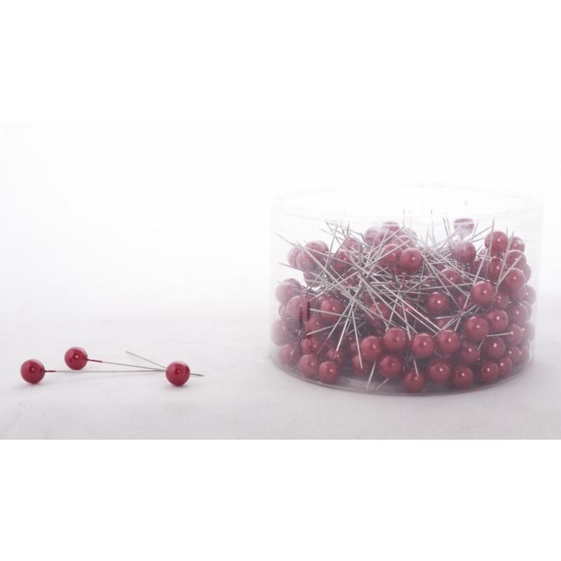 PIQUE - D10 x H60 mm Epingle Perle Rouge par 250
