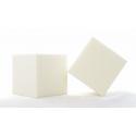 Cube Mousse 10cm Ivoire x3