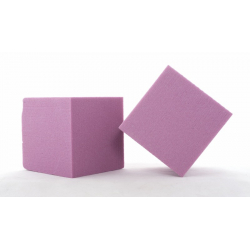 Mousse Cube Fuchsia 10 cm