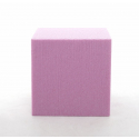 Cube Mousse 10cm Fuchsia x3