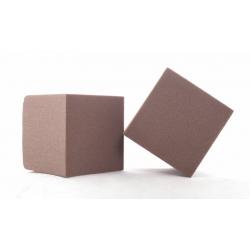 Cube Mousse 10cm Chocolat x3