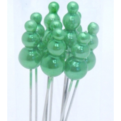 Epingles Chapeau d15mm x h90mm Vert Pomme par 72