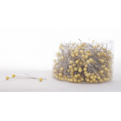 Epingle Perle 6mm Jaune(x500)