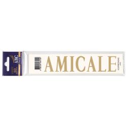 Lettre Deuil AMICALE Pochette