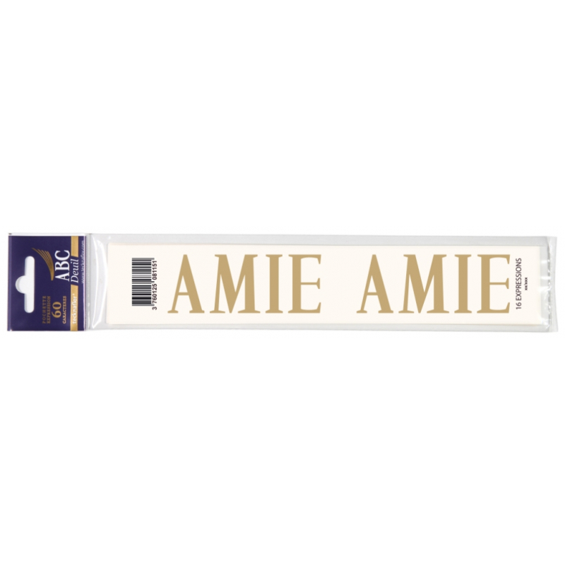 Lettre Deuil AMIE Pochette