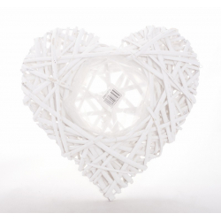 COSTA - Vannerie Coeur Blanc L27 X d11.5 cm