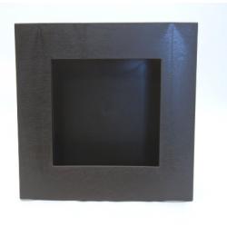 Cadre Végétal Chocolat 25 x 25 cm
