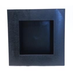 Cadre Végétal Noir 25x25cm
