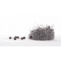 Epingles perles marron d10x60mm par 250