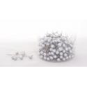 PIQUE - D10 x H60mm Epingles Perle Argent par 250