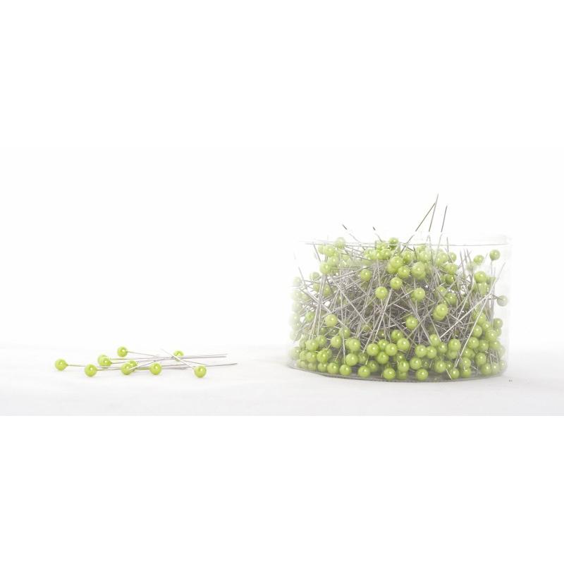 Vert Pomme - D6 x H65 mm Epingle Perle Par 500