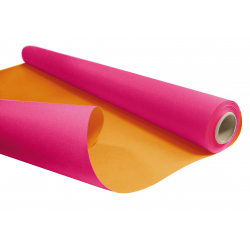 DUO - Rouleau Kraft Fuchsia / Orange 0.80 x 40 m - 60gr / m²