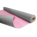 DUO - Rouleau Kraft Gris / Rose 0.80 x 40 m - 60gr / m²