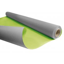 DUO - Rouleau Kraft Gris / Vert pomme 0.80 x 40 m - 60gr / m²