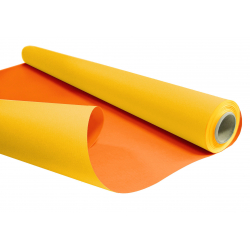 DUO - Rouleau Kraft Jaune / Orange 0.80 x 40 m - 60gr / m²