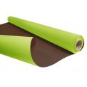 DUO - Rouleau Kraft Vert pomme / Chocolat 0.80 x 40 m - 60gr / m²