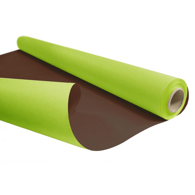 Kraft Duo Choco/Vert Pomme 0.80 x 40m