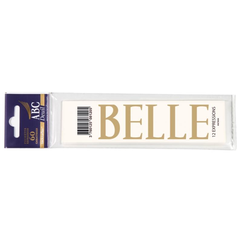 Lettre Deuil BELLE Pochette