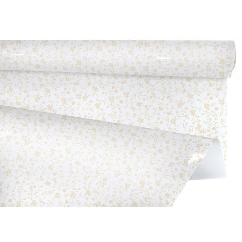 CLAYRBRILL - Papier Bulle Fiori Natural L0.8 x L25 m