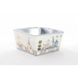 """Coupe carrée métal 16x16 H8 """"Bord de Mer"""""""