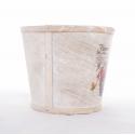 JARDIN - Cache-pot bois décoré - série de 3