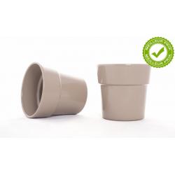 ARTIKEL - Cache-pot Taupe D13.5 x H12.5 cm par 6