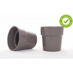 ORCH - Cache-pot Gris Foncé avec Rebord d13.5 h12.5 cm par 6