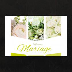 HEUREUX MARIAGE - Carte Jeso Triple par 10