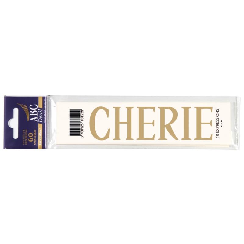 Lettre Deuil CHERIE Pochette
