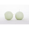 BOULE - Bougie Boule Vert Amande par 12