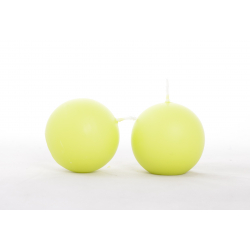 BOULE - Bougie Boule Vert Limone par 12