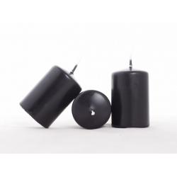 CYLINDRE - Bougie D4 x H6 cm Noire par 24