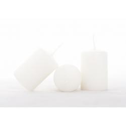CYLINDRE - Bougie D4 x H6 cm blanc cassé par 24