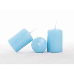 CYLINDRE - Bougie D4 x H6 cm Turquoise Par 24